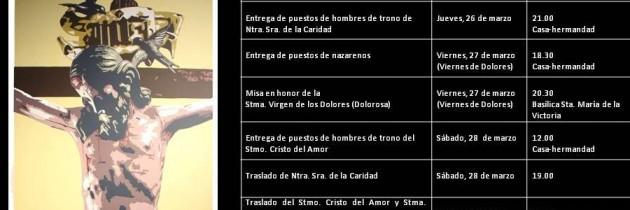 Calendario de cuaresma y Semana Santa aprobado por el Cabildo General