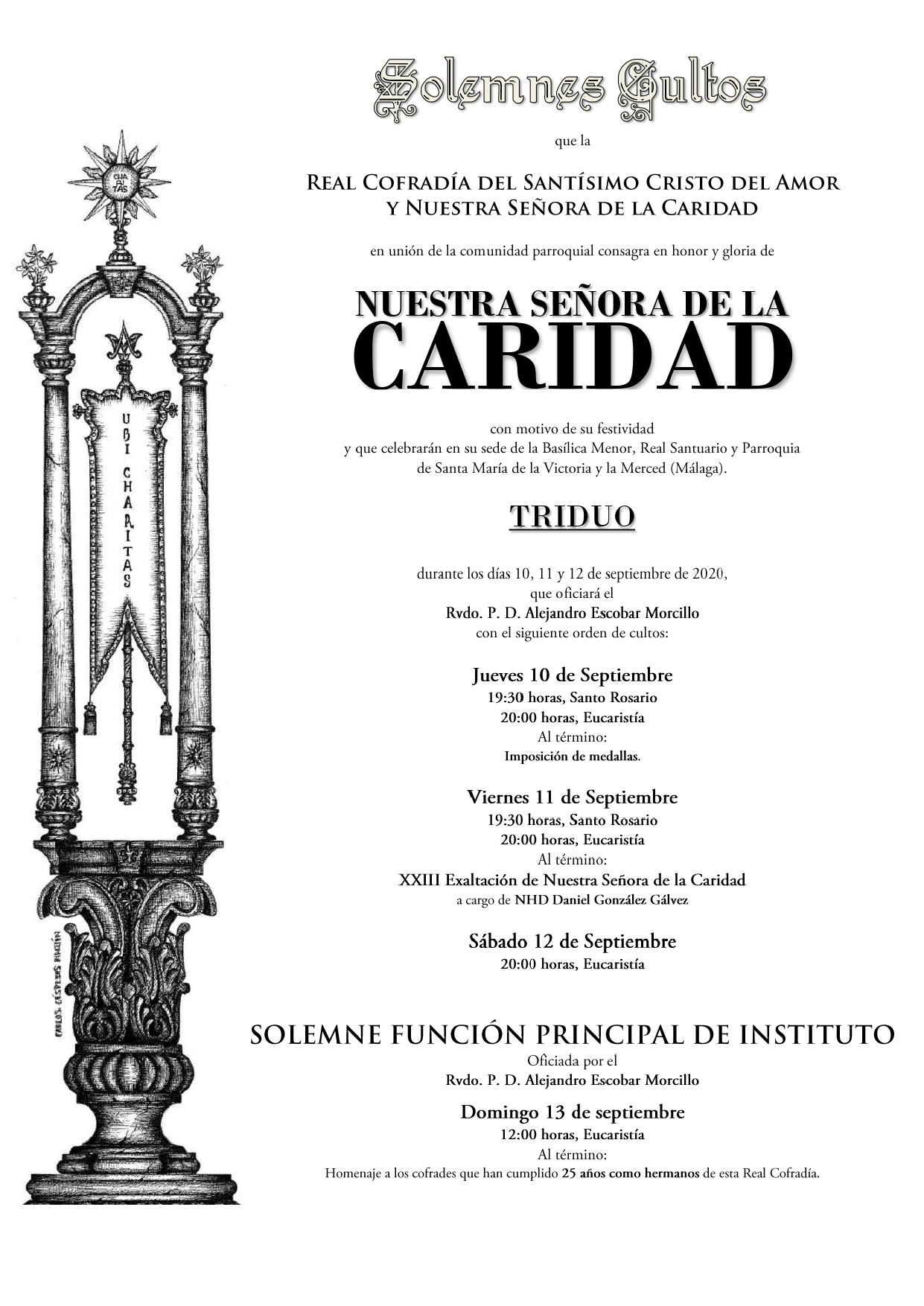 convocatoria triduo virgen 2020